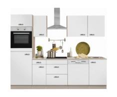 Optifit Küchenzeile mit E-Geräten »Faro«, Breite 270 cm, weiß, Weiß Glanz