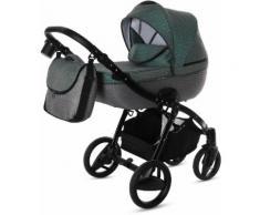 knorr-baby Kombi-Kinderwagen Set, »Piquetto, petrol-grau«, Unisex, petrol-grau