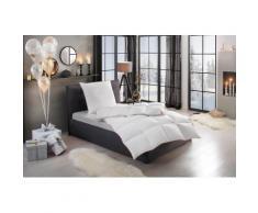 RIBECO Gänsedaunenbettdecke + Kopfkissen Kalle, nachhaltig & pflegeleicht weiß Allergiker Bettdecke Bettdecken Bettdecken, Unterbetten