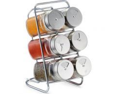 Zeller Present Gewürzständer (6-tlg), silberfarben, silberfarben-transparent