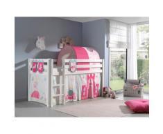 Vipack Hochbett Pino, wahlweise mit Rutsche weiß Betten Möbel Aufbauservice