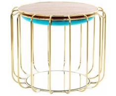 Kayoom Beistelltisch / Pouf Comfortable 110, als und Hocker nutzbar blau Beistelltische Tische