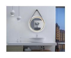 Talos Badspiegel Golden Summer, Durchmesser 55 cm, mit LED-Beleuchtung schwarz Runde Formen Aktuelle Wohntrends