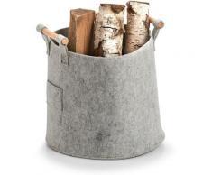 Zeller Present Aufbewahrungskorb Aufbewahrungskorb, Filz/Holz, grau, (1 St.) grau Körbe Boxen Regal- Ordnungssysteme Küche Ordnung
