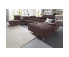 exxpo - sofa fashion Wohnlandschaft, braun, braun