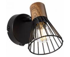Brilliant Leuchten Wandleuchte, E14, Manama Wandspot Schalter holz dunkel/schwarz matt schwarz Wandleuchten Lampen Wandleuchte