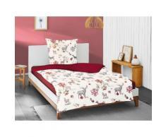 Irisette Wendebettwäsche Eos 8235, mit Hirschen rot Bettwäsche 135x200 cm nach Größe Bettwäsche, Bettlaken und Betttücher