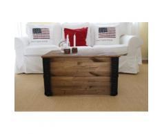 Uncle Joe´s Truhentisch Transportkiste braun Holz-Beistelltische Holztische Tische Tisch