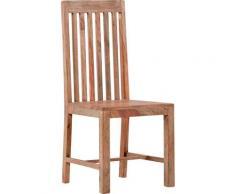 Gutmann Factory Esszimmerstuhl Zulu, aus Massivholz Sheesham beige Esszimmerstühle Stühle Sitzbänke