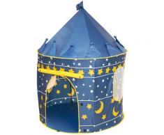 roba Spielzelt Mond und Sterne, Durchmesser 105 cm blau Kinder Spieltunnel Outdoor-Spielzeug