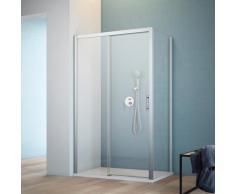 maw by GEO Eckdusche A-FS60, ebenerdiger Einbau möglich silberfarben Bodenablauf Duschkabinen Duschen Bad Sanitär