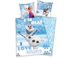 Kinderbettwäsche Die Eiskönigin Olaf Disney, blau, blau