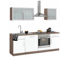 wiho Küchen Küchenzeile Aachen EEK B braun Küchenzeilen mit Geräten -blöcke Küchenmöbel Arbeitsmöbel-Sets