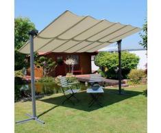 Leco Pavillon Waved, BxT: 250x350 cm, mit Sonnendach grau Pavillons Garten Balkon