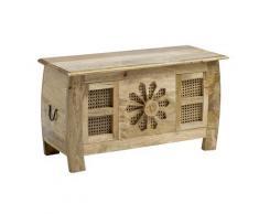 Truhenbank aus Massivholz, kunsthandwerklich gefertigt beige Holzbänke Sitzbänke Stühle Bänke