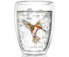 Creano Thermo-Glas, orange, doppelwandiges Tee-Glas, Latte Macchiato Glas, »Hummi«, transparent, Neutral, transparent