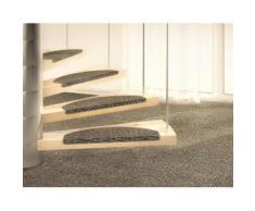Dekowe Stufenmatte Mara S2, halbrund, 5 mm Höhe, 100% Sisal, große Farbauswahl, auch als Set mit 15 Stück erhältlich grau Stufenmatten Teppiche