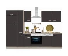 Optifit Küchenzeile mit E-Geräten »Faro«, Breite 300 cm, grau, Anthrazit