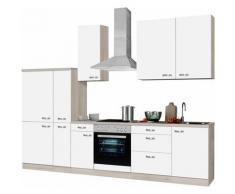 Küchenzeile ohne E-Geräte, OPTIFIT, »Faro«, Breite 300 cm, weiß, weiß matt
