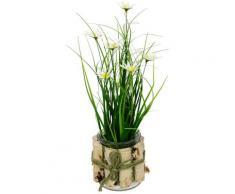 I.GE.A. Kunstblume Margeriten im Gras, 3er Set weiß Künstliche Zimmerpflanzen Kunstpflanzen Wohnaccessoires