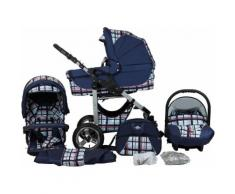 bergsteiger Kombi-Kinderwagen Capri, blue stripes, 3in1, 15 kg, Made in Europe blau Kinder Kombikinderwagen Kinderwagen Buggies