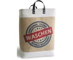 Franz Müller Flechtwaren Wäschebox Krims Krams, beige, natur-weiß-blau-rot