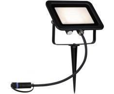 Paulmann LED Gartenstrahler Plug & Shine Erdspieß Flood IP65 15,5W 3.000K Schwarz, 1 St., Warmweiß schwarz LED-Lampen LED-Leuchten Lampen Leuchten sofort lieferbar