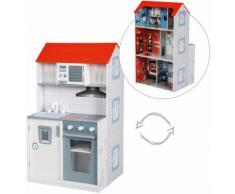 roba Spielküche 2-in-1, Feuerwehr, Holz weiß Kinder Ab 18 Monaten Altersempfehlung Spielküchen