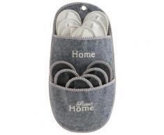 Home affaire Hängeaufbewahrung Sweet Home, (Set, 7 St.), Gästepantoffel-Set grau Aufbewahrungstaschen Aufbewahrung Ordnung Wohnaccessoires