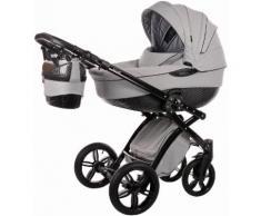 knorr-baby Kombi Kinderwagen Set, »Alive Be Carbon Luxus, grau-schwarz«, grau, Unisex, grau-schwarz