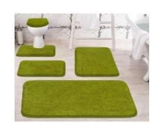 Badematte Melange, Grund, Höhe 27 mm, rutschhemmend beschichtet grün Einfarbige Badematten