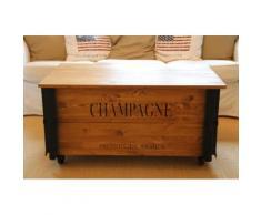 Uncle Joe´s Couchtisch XL Champagne, im Truhen-Design braun Couchtische eckig Tische Tisch