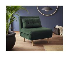 my home Daybett, mit ausziehbaren Metallstützbeinen, Schlafsessel in zwei Größen erhältlich, modernes Gästebett grün Daybett Tagesbetten Gästebetten Betten