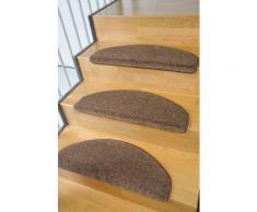 Stufenmatte Buffalo Living Line stufenförmig Höhe 15 mm maschinell getuftet, braun, braun