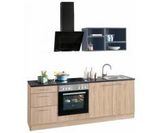 OPTIFIT Küchenzeile Mini, ohne E-Geräte, Breite 210 cm grau Singleküchen Küchenzeilen -blöcke Küchenmöbel Arbeitsmöbel-Sets