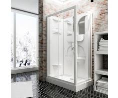 Schulte Komplettdusche Malta, inklusive Armatur weiß Duschkabinen Duschen Bad Sanitär
