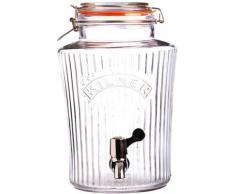 KILNER Getränkespender VINTAGE, Für gekühlte Getränke mit leichtgängigem Zapfhahn, 5 Liter farblos Küchenhelfer Haushaltswaren