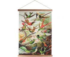 Art for the home Poster Kolibris, Vögel grün Bilder Bilderrahmen Wohnaccessoires
