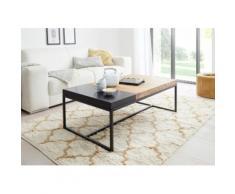 MCA furniture Couchtisch, Couchtisch Massivholz mit Tablett braun Couchtische eckig Tische Tisch