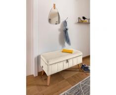 my home Truhenbank Amira, mit Staufach, in 3 Bezugsqualitäten beige Truhenbänke Sitzbänke Stühle