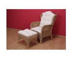 Home affaire Rattanstuhl beige Lesesessel Sessel Stühle