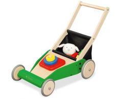 Pinolino Lauflernwagen Rasenmäher Klaas, FSC-Holz aus gewissenhaft bewirtschafteten Wäldern bunt Kinder Lauflernhilfen Baby Kleinkind