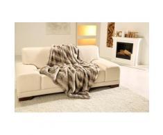 Wohndecke Rentier Felloptik, Gözze grau Kunstfelldecken Decken Wohndecken