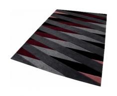 Teppich, Lamella, Esprit, rechteckig, Höhe 10 mm, handgetuftet rot Moderne Teppiche Unisex