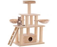SILVIO design Kratzbaum XXL Ginni, hoch, BxTxH: 100x58x155 cm beige Kratz- Kletterbäume Katze Tierbedarf