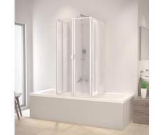 Schulte Badewannenaufsatz, nach Gebrauch flach an die Wand klappbar, Montage ohne Bohren weiß Duschkabinen Duschen Bad Sanitär Badewannenaufsatz