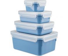 Emsa Frischhaltedose Clip & Close Color Edition, (Set, 4 tlg.), auslaufsicher, hygienisch, innovative Deckeltechnologie, (0,2/0,55/0,8/2,2 Liter) blau Aufbewahrung Küchenhelfer Haushaltswaren