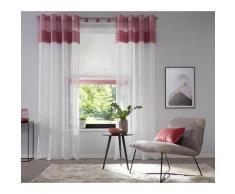 Home affaire Raffrollo Gander, mit Schlaufen rosa Wohnzimmergardinen Gardinen nach Räumen Vorhänge