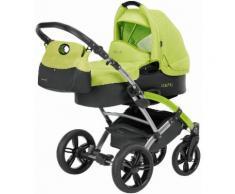 knorr-baby Kombi Kinderwagen Set Voletto Sport grau-lemon, grün, Unisex, grau-lemon