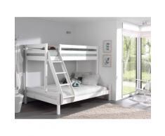 Vipack Etagenbett Martin, mit Rollrost weiß Kinder Kinderbetten Kindermöbel